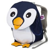 Affenzahn Toddler Baby Small Sustainable Backpack - Age 1-3 for Boys and Girls - Penguin - Blue
