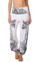 Harem Pants for Women Hippie Bohemian Casual Gypsy Pants, Ideal Yoga Pant - Baggy Boho Harem Pants