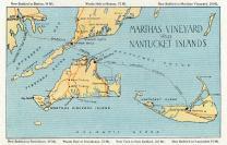 Massachusetts - Detailed Map of Martha's Vineyard and Nantucket Islands - Vintage Map 18774 (12x18 SIGNED Print Master Art Print - Wall Decor Poster)