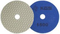KGS Swiflex XX Diamond Polishing pads (3 pack), Ø4'', grit 1500