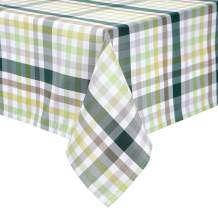 HARORBAY Outdoor Table Cloth for Picnic, Fall Checkered Rectangle Tablecloth, Waterproof Fabric Table Cover for Parties Camping (60 x 104 Inch, Green)