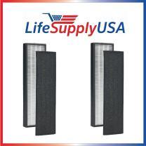 LifeSupplyUSA 2 Pack True HEPA Replacement Filter Compatible with GermGuardian FLT4825 FLT-4850 AC4800 Series, Germ Guardian Filter B PET