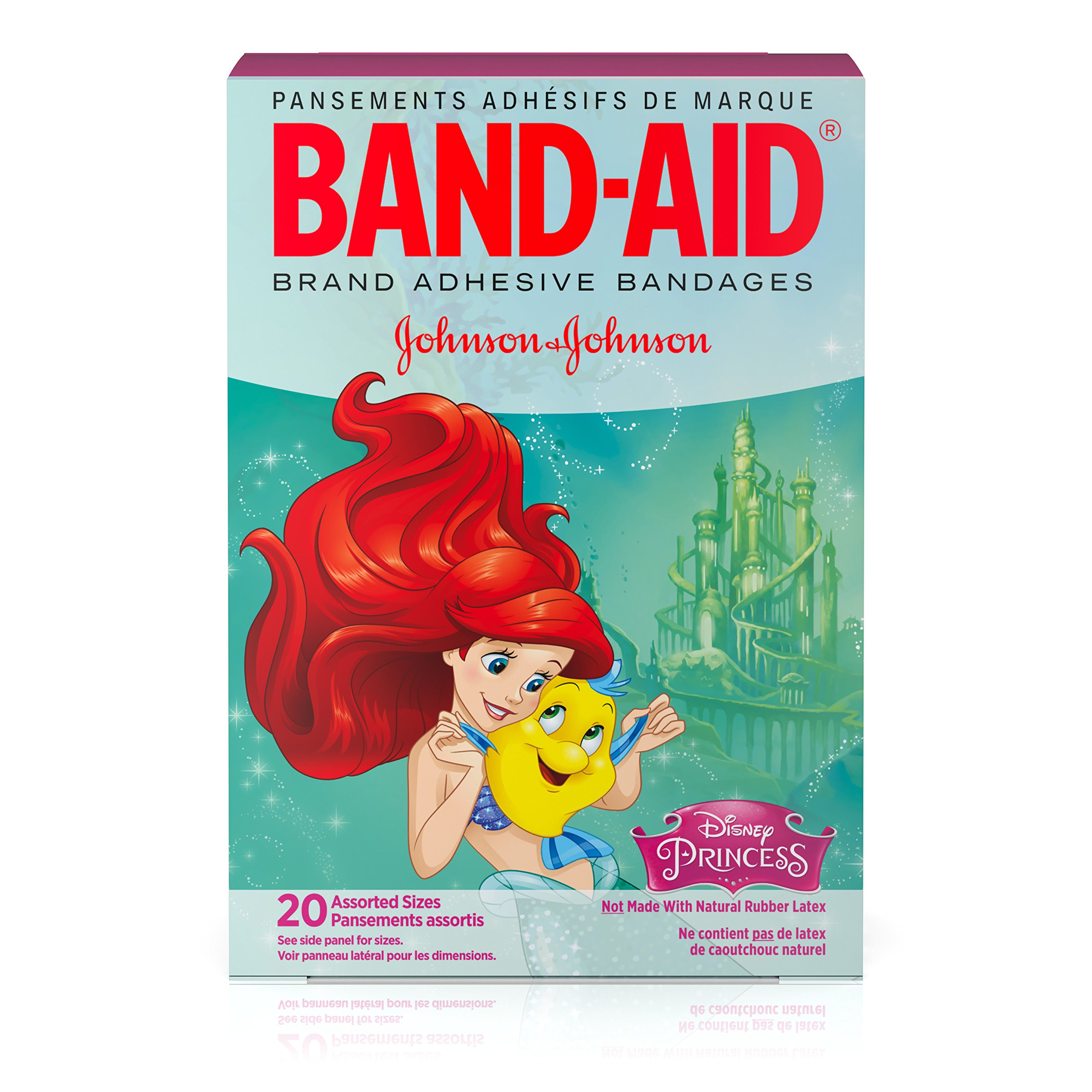 Band-Aid Decorative Adhesive Bandages, Disney's Princesses, Assorted, 20 Count (Pack of 4)
