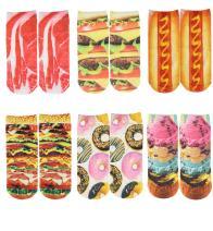 Zmart Womens Girls Cat Low Cut Ankle Socks, 3D Novelty Colorful Fun Food Gift Socks