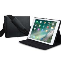 Cooper Magic Carry II Pro Case for iPad 6, iPad 5, iPad Air 2, iPad Air 1 | Protective Tablet Folio | Carrying Case, Business School Travel (Black)