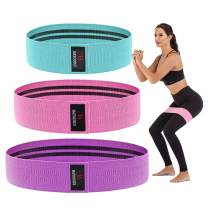 Women's Exercise Resistance Workout Bands - Hip Weights Cotton Band Sets for Legs and Arms, Heavy Loop Band for Butt Training Pilates Stretching Physical Therapy Yoga Home Fitness Gym Crossfit