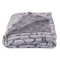 SOCHOW Uragiri Flannel Fleece Throw Blanket, Warm Lightweight Super Soft Blanket 60 × 80 Inches, Grey