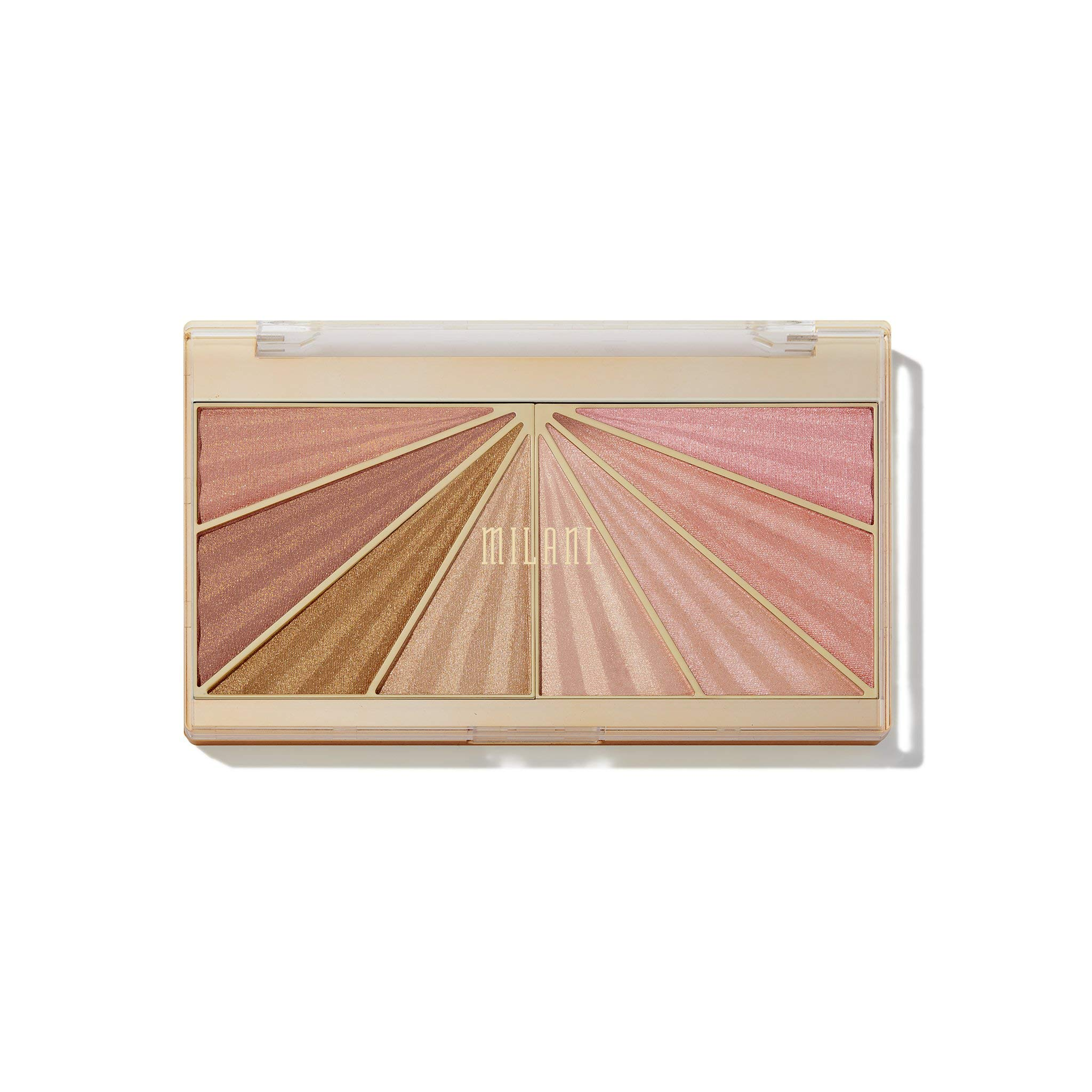 Milani Luminoso Glow Shimmering Face Palette (0.37 Ounce) Cruelty-Free Highlighter Palette - Shape, Contour & Highlight Face with 8 Shimmer Shades