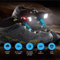 Night Trek X Tactical Shoe Lights - Robust, Waterproof & Extreme Weatherproof Gear for Long Running, Cycling, Hiking or Night Shift Hours - Rechargeable Long Lasting Battery for Peak Safety for Night
