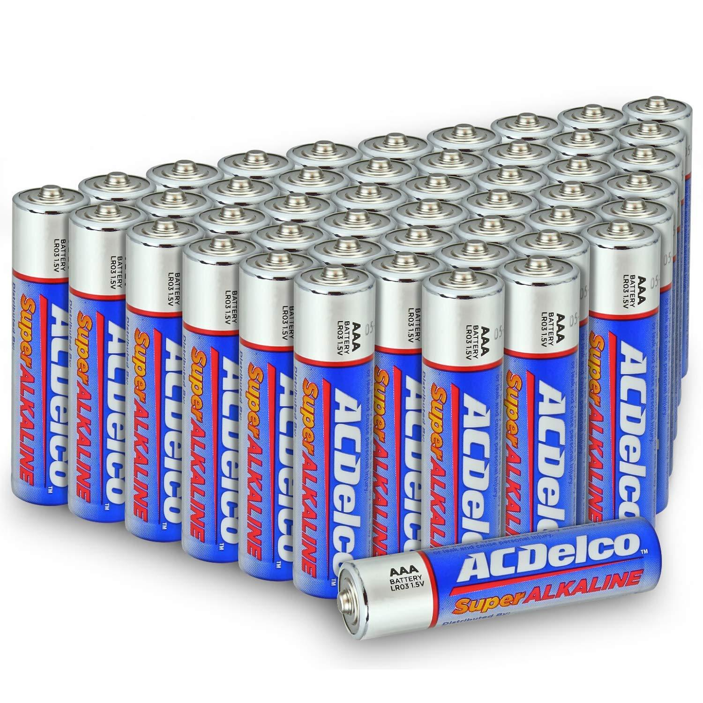 ACDelco AAA Batteries, Alkaline Battery, 48 Count