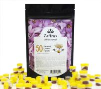 Zaffrus - Premium Saffron Powder for Cooking/Gym-Goers/Specialty Drinks Fans - Pack of 50 (6.25 gr/ .2204 oz)