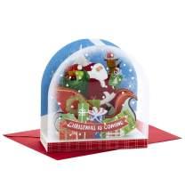 Hallmark Paper Wonder Pop Up Christmas Card Snow Globe (Santa Claus)