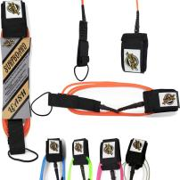 South Bay Board Co. Premium Surfboard Leash - 7mm Extra Thick, Max Strength Leashes [5'-11' Sizes]