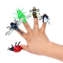 12 Pieces - Rubber Insect Finger Puppet for Toddlers & Kids - Assorted Pack