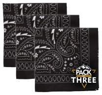 Bandana Handkerchiefs - Large/Jumbo Paisley Cowboy Bandanas for Men & Women - Head & Face Wrap Scarf 1/3/12 Pack