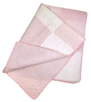 Stephan Baby Heirloom-Quality Pieced Crib Quilt, Pink and White Vintage Dot