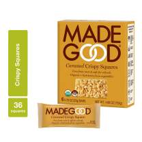 MadeGood Caramel Crispy Squares, 6 Pack (36 Squares); Crispy Rice with the Classic Taste of Rich Caramel; Nut and Gluten Free, Organic, Vegan Snack; Contain Nutrients of a Serving of Vegetables