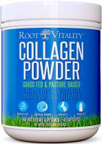 Root Vitality Collagen Peptides, Collagen Powder, Grass Fed, Premium Quality Collagen Protein, Pasture Raised, Easily Dissolves, Keto & Paleo Friendly, Non-GMO, 16 Ounces