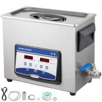 VEVOR 6.5L Ultrasonic Cleaner Professional Jewelry Cleaner Ultrasonic Machine Digital Ultrasonic Parts Cleaner with Heater Timer Industrial Sonic Cleaner(6.5L)