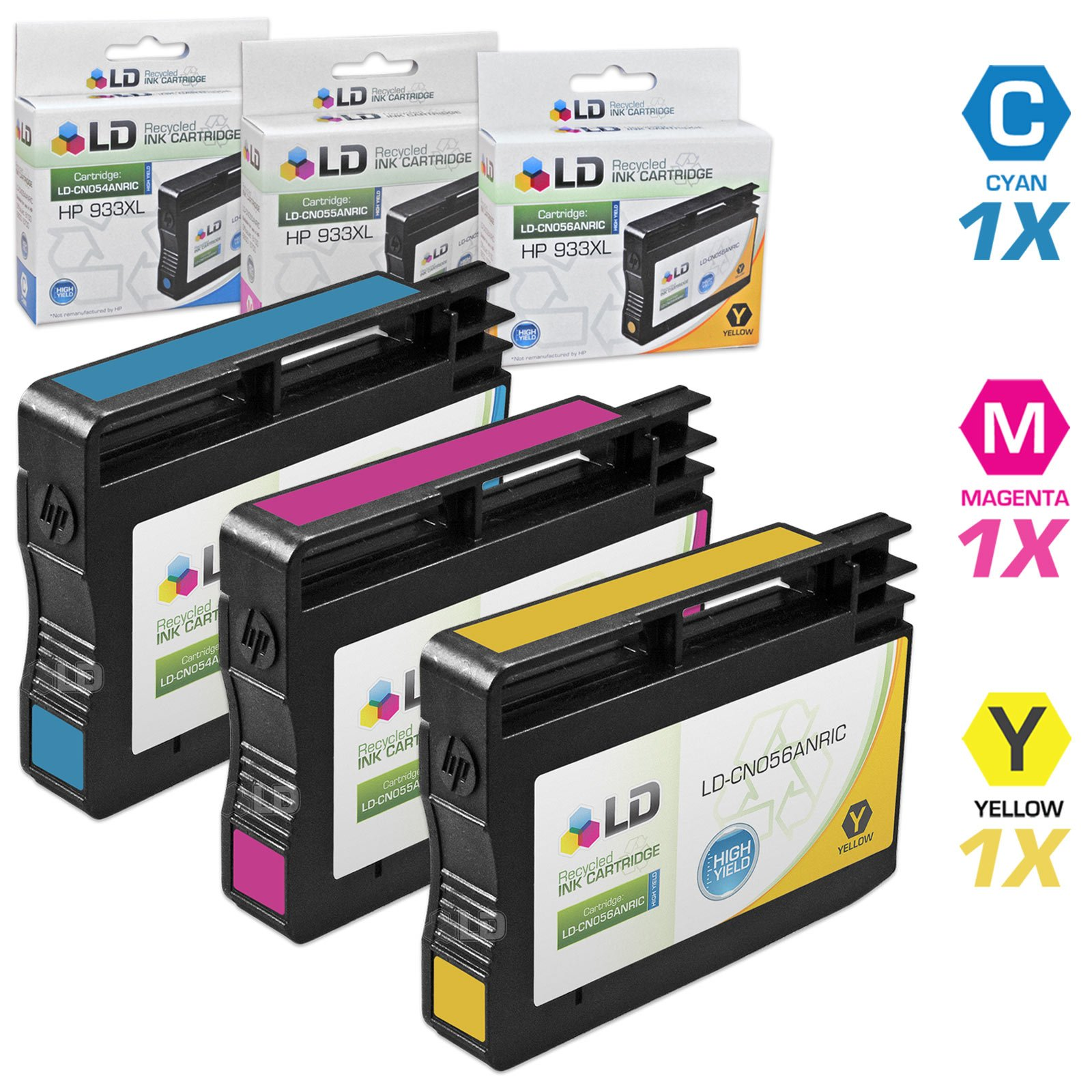 6500 Bulk: RCD973 CD635AN; Models: OfficeJet 6000 14 Inkjet Cartridges 7000; Magenta Ink Myriad Re-Manufactured Inkjet Cartridges Replacement for HP CD973AN