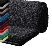 "casa pura Bath Mats for Bathroom – 20"" x 32"" Dark Grey Bath Mat | Ultra Absorbent, Self-Dry Microfiber, Non-Slip Bath Mats for Floors | Bathroom Rugs in 10 Fresh Colors"