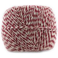 JAM PAPER Twine - Red & White Baker's Twine - 500 Yards - Sold Individually