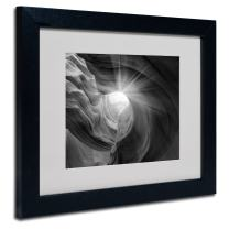 Searching Light I by Moises Levy Matted Framed Art, 11 by 14-Inch, Black Frame