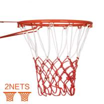 Suncity Basketball Net Replacement 12 Loops 2 Pack Heavy Duty Basketball Hoop Net All Weather Outdoor&Indoor