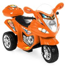 Best Choice Products 6V Kids Battery Powered 3-Wheel Motorcycle Ride On Toy w/ LED Lights, Music, Horn, Storage - Orange