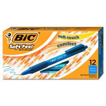 BIC Soft Feel Ball Pen, Blue, Fine Point, 12-Count