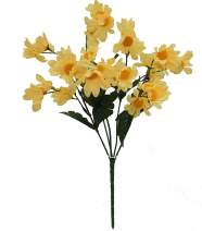 """Ella and Lulu Dessign Lulu Dessign 16"""" Tall Daisy x 5, Large Event Anniversary Christmas Mother's Day Decorating Wedding, Party Home Indoor & Outdoor Window Bush, One Size, Yellow"""