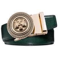 Dubulle Designer Mens Belts, Sliding Automatic Buckle Ratchet Dress Belt TOP Genuine Leather Strap Gifts