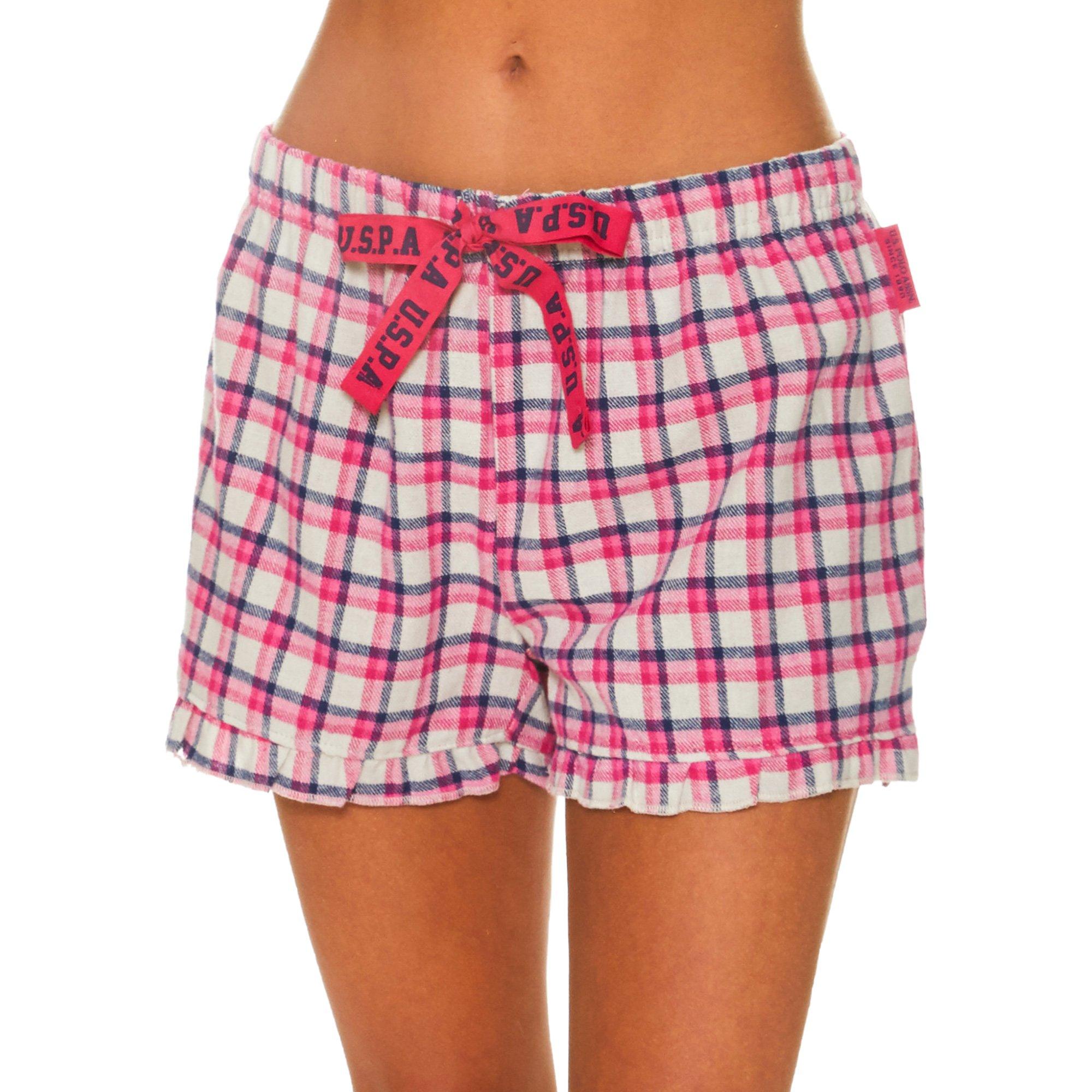 Womens Elastic Waistband Lounge//Pajama Sleep Shorts Polo Assn U.S