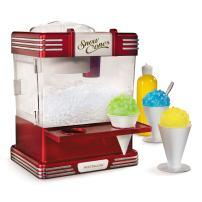Nostalgia RSM602 Countertop Snow Cone Maker Makes 20 Icy Treats, Includes 2 Reusable Plastic Cups & Ice Scoop, Retro Red