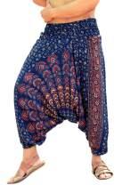 Sarjana Handicrafts Mens Womens Rayon Mandala Pockets Harem Pants Yoga Drop Crotch Trouser