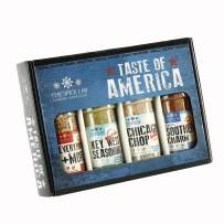 The Spice Lab Taste of America Spices and Seasonings Set - Ultimate Grilling Accessories Set - Perfect Gift Kit - All Around Cooking & Air Fryers - Great Gift for Men or Gift for Dad – Made in the USA