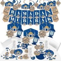 Big Dot of Happiness Ramadan - Eid Mubarak Supplies - Banner Decoration Kit - Fundle Bundle