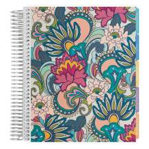 Erin Condren 18 - Month 2020-2021 Coiled Life Planner (July 2020 - December 2021) - Playful Paisley Cover, Horizontal Weekly Layout, Layers Colorful Interior Design, Daily Agenda