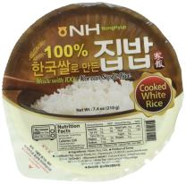 Jayone NH Microwaveable Fresh Cooked White Rice, 7.4 Oz, 12 Count (88.8 oz), Non GMO No Preservatives Gluten Free BPA Free