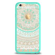Ailun Case for iPhone 6 iPhone 6s Solid Acrylic Back Reinforced Soft TPU Frame Ultra Slim Shock Absorption Bumper Anti Scratch Fingerprint Oil Stain Back Cover Mandala MintGreen