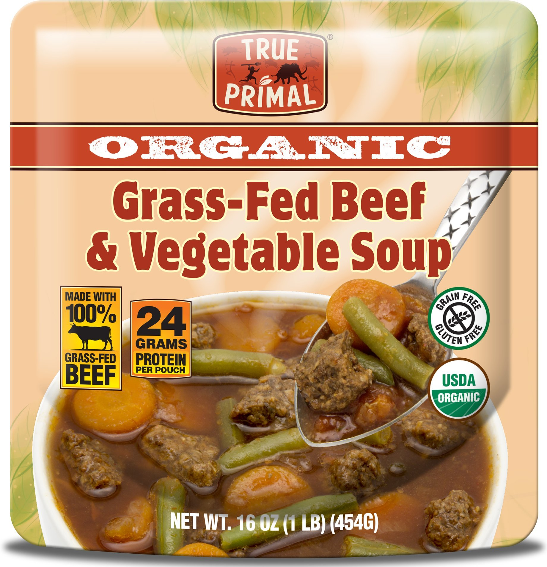 True Primal Organic Grass-Fed Beef & Vegetable Soup (Gluten-free, Paleo) 10-pack