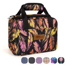 HOMESPON Insulated Lunch Bag Lunch Box Cooler Tote Box Cooler Bag Lunch Container for Women/Men/Children/School/Work/Picnic,feather