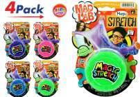 JA-RU Magic Stretch Super Uber Mega Stretchy (Pack of 4) and Bouncy Ball Colorful Super Mega Soft Item #5346-4p