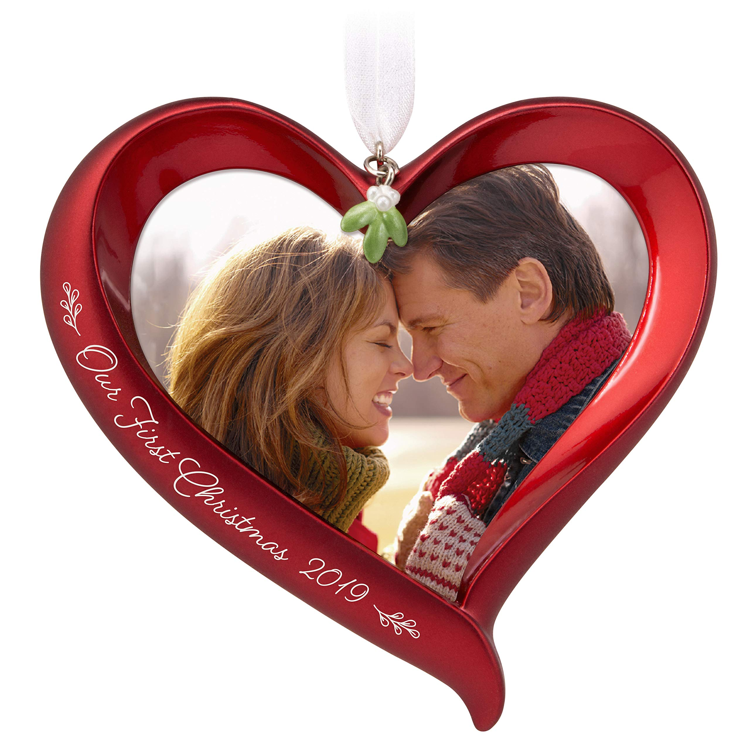 Hallmark Keepsake Ornament 2019 Year Dated Our First Christmas Heart Photo Frame