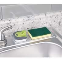 InterDesign Sinkworks Kitchen Sink Tray for Sponges, Scrubbers, Soap - Clear