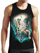 SFYNX 'PLURduction' Alien Rave Tank Top - Glow in The Dark EDM Clothing - Blacklight Reactive Mens Tank