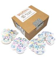 DecoCookies - Paint Your Own Cookie Kit - UNICORN Collection - Butter Recipe - 16-ct Box - Perfect for Gifts, School, Birthdays and Party Favors