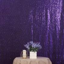 Poise3EHome Sequin Photo Booth Backdrop 6Ftx7Ft Sparkly Background Wedding Party Curtain, Purple