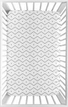 Sweet Jojo Designs Grey and White Geometric Baby Boy Fitted Mini Portable Crib Sheet for Mod Dino Modern Dinosaur Collection - for Mini Crib or Pack and Play ONLY