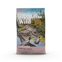 Taste of the Wild Grain Free High Protein Real Meat Recipe Lowland Creek Premium Dry Cat Food 14lb